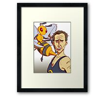 Nicolas Cage: not the beedrill Framed Print