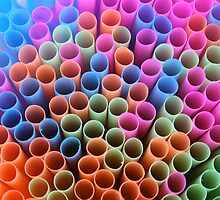 Colorful straws by Christian Burton