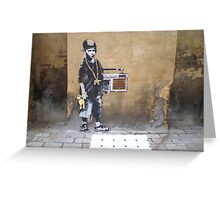 Banksy Kid Greeting Card