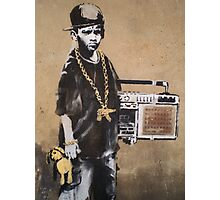 Banksy Kid Detail Photographic Print