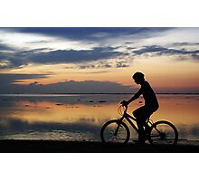 Boy on a Bike Photographic Print