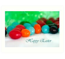 Jelly Bean Greeting ~ Happy Easter Art Print