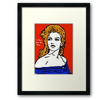 Marilyn I'll Never Leave You Unless..... Framed Print