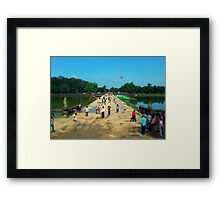 A Touch of Angkor Framed Print