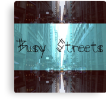 Busy Streets Canvas Print