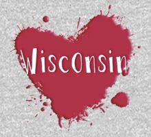Wisconsin Splash Heart Wisconsin by Greenbaby