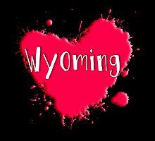 Wyoming Splash Heart Wyoming by Greenbaby