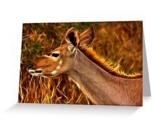 Kruger Kudu Greeting Card
