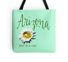 Arizona State Flower Sagauro Cactus Flower Tote Bag