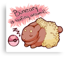 Buneary Is Loafing Around! Canvas Print