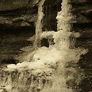 Water on the Rocks in Sepia by LeeMascarello