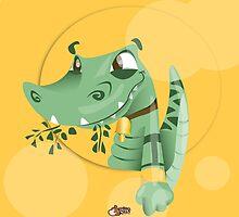Take the crocodile for a walk  by IamStuckOnYou