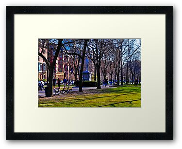 Boston's Back Bay Spring Day! On the Promenade from the Boston Public Garden by Richard VanWart