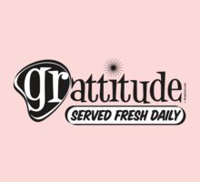 Grattitude (Attitude of Gratitude) Genuine Fake Retro Coolness by dropSoul