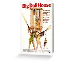 Big Doll House Alt (Green) Greeting Card