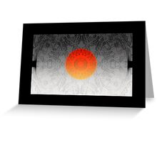 The Sun rises in the east, and sets on the west Greeting Card