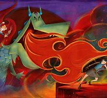 The Princess vs The Dragon by charliepadgett