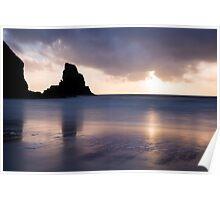 Talisker Bay sunset Poster