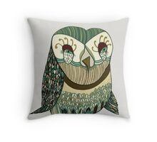 My Garden Owl Throw Pillow