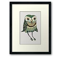 My Garden Owl Framed Print