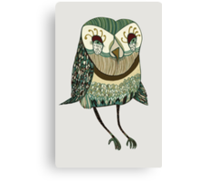 My Garden Owl Canvas Print