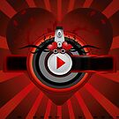 Red music background by Olga Altunina