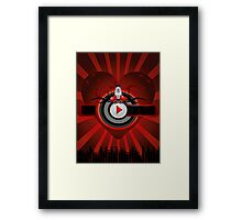 Red music background Framed Print