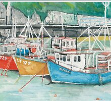 Boats in Tenby Harbour by doatley
