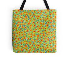 Pretty Country Marigolds Ditsy Pattern on Blue Tote Bag