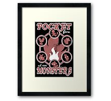 Pocket Monsters - Fire Framed Print