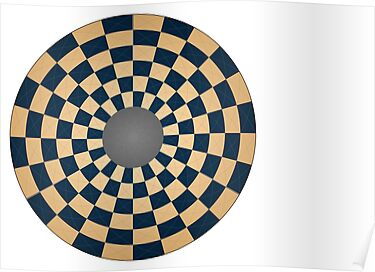 Circular Three Player Chess Board