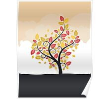 Stylized Autumn Tree Poster