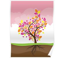 Stylized Autumn Tree 2 Poster