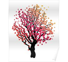Stylized Autumn Tree 4 Poster