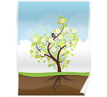 Stylized Spring Tree Poster