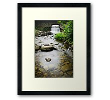 Small Waterfall Landscape Framed Print