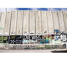 Barrier 4 - Love Wins Photographic Print
