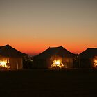 Tents at Sam Dunes Camp (India) by Siddhesh Rishi