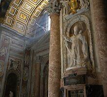 The Vatican Church - Sun Streaming by Brett Nelson