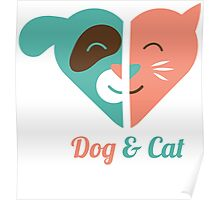 Dog and Cat Love Poster