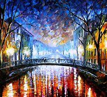 Misty Bridge — Buy Now Link - www.etsy.com/listing/173255472 by Leonid  Afremov