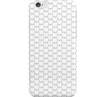POSTER; 16x20 HEXES Blacklines on WHITE. Black numbers iPhone Case/Skin
