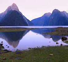 Milford Sound Dawn, South Island, New Zealand by Michael Boniwell