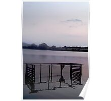 Sunset Over The Lake Poster