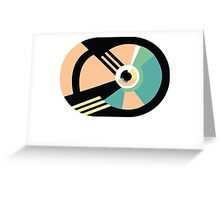 1980s abstract 01 Greeting Card