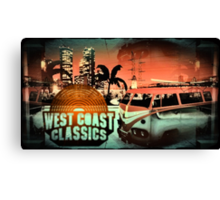 Grand Theft Auto West Coast Classics Design Canvas Print