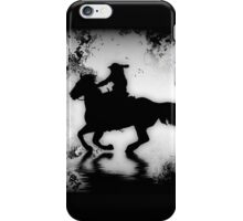 """""""Off to the Races"""" Galloping Horse and Rider iPhone Case/Skin"""