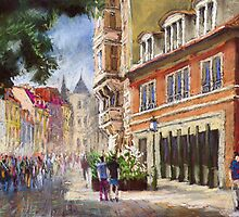 Germany Baden-Baden Lange Str by Yuriy Shevchuk