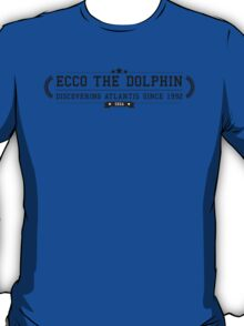 Ecco The Dolphin - Retro Black Clean T-Shirt