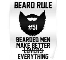 Beard Rule #51 Poster